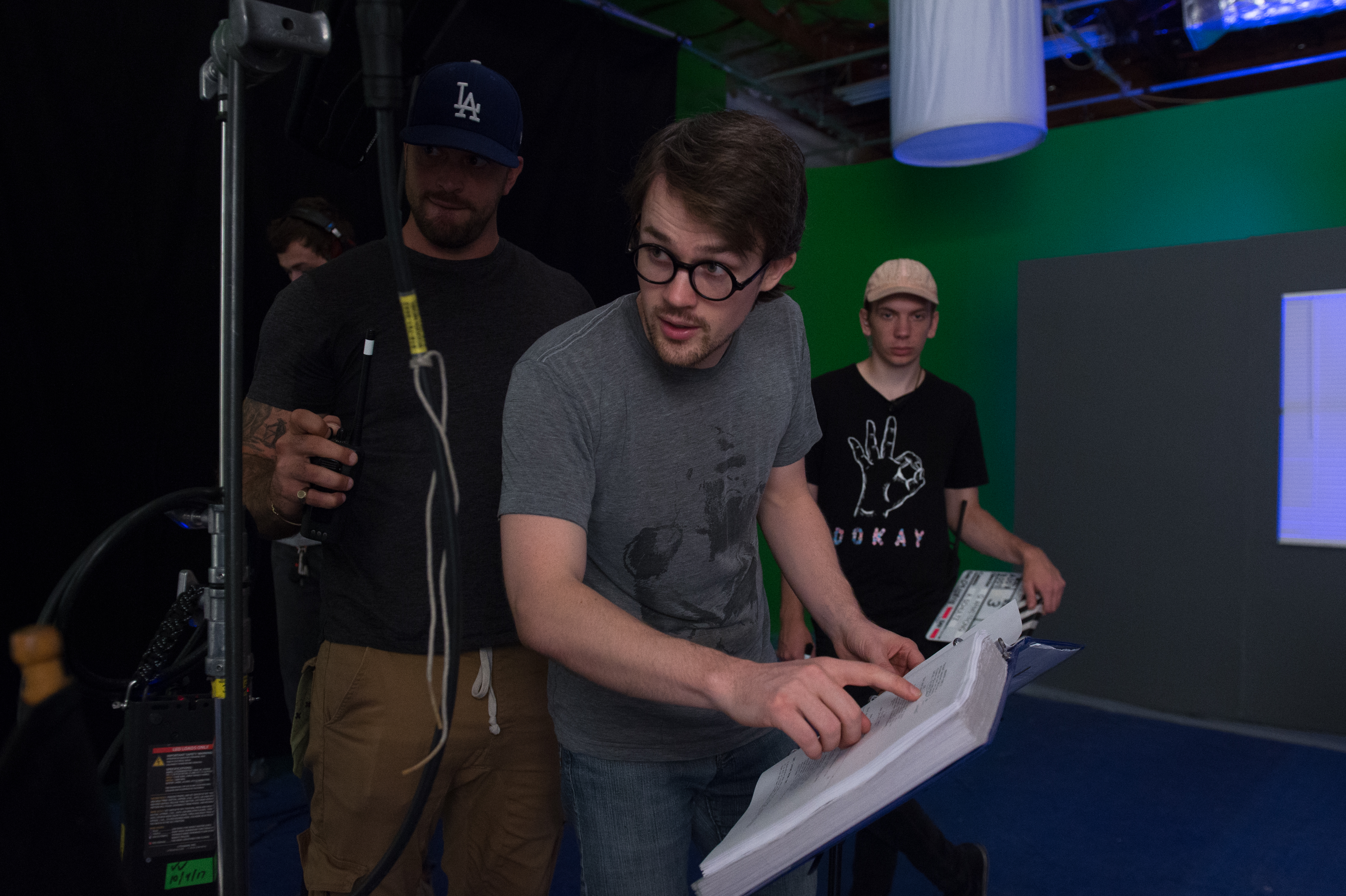 Quinn Armstrong Directing Behind the Scenes Still from Survivial Skills